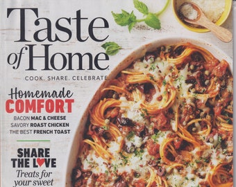 Taste of Home February March 2021 Homemade Comfort (Magazine: Cooking, Recipes)