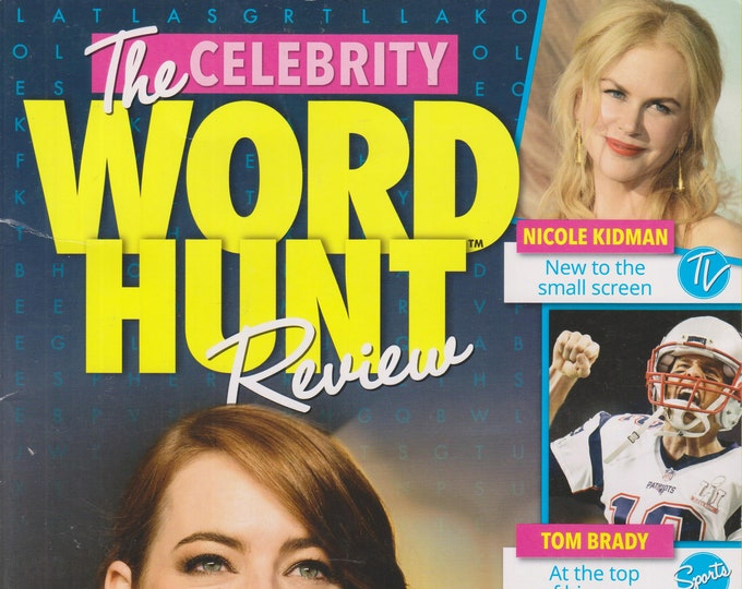 The Celebrity Word Hunt Review  (Softcover:  Celebrities, Puzzle) 2017