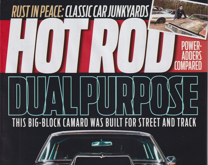 Hot Rod July 2021 Dual Purpose Big Block Camaro was Built for Street and Track  (Magazine: Cars, Automotive)
