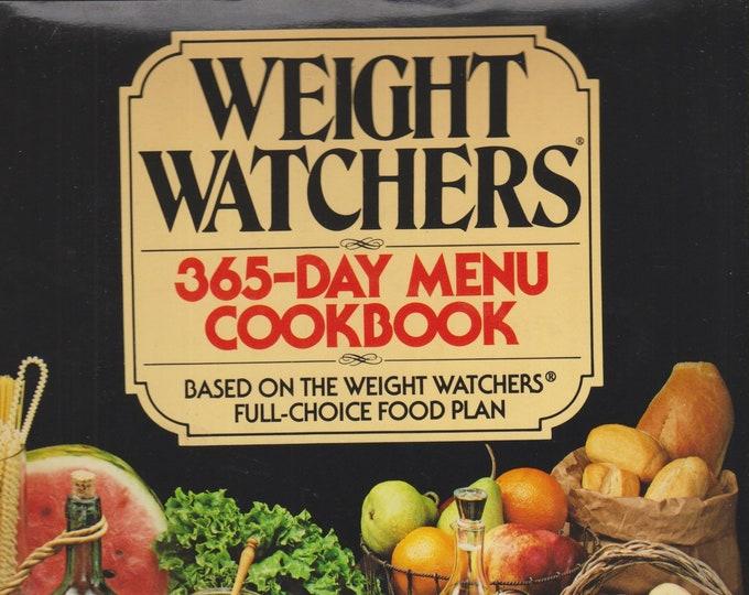 Weight Watchers 365-Day Menu Cookbook (Hardcover: Diet, Cooking) 1981
