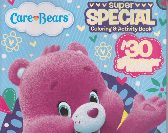 Care Bears Super Special Coloring & Activity Book  Bear Hugs (Over 30 Glimmer Stickers, With Finger Puppets) (Softcover: Children's) 2015