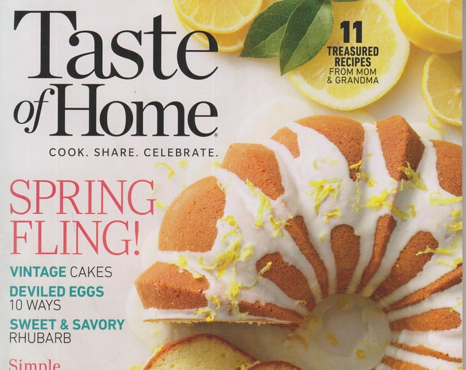 Taste of Home April May 2020 Spring Fling!  Cook. Share. Celebrate (Magazine: Cooking, Recipes)