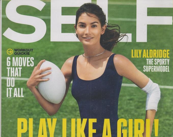 Self July 2015 Lily Aldridge - Play Like A Girl!  (Magazine Mind, Body, and Spirit)
