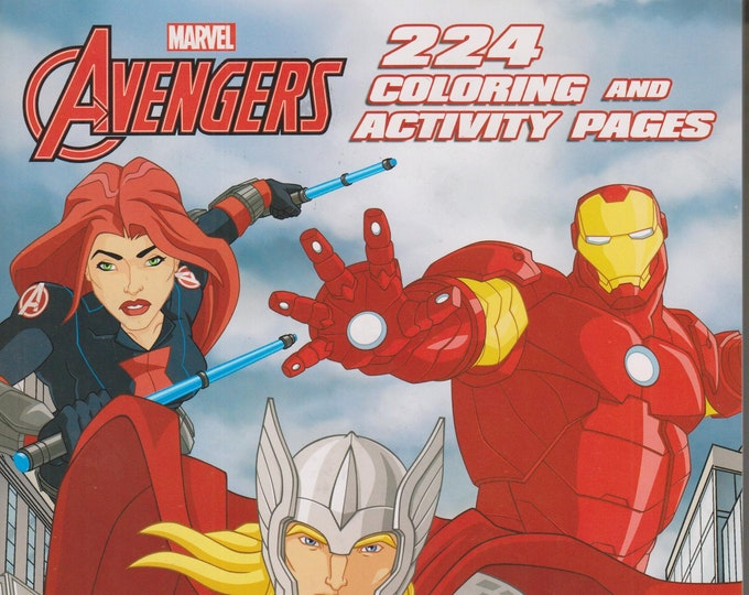 Marvel The Avengers 224 Coloring and Activity Pages  (Softcover: Children's, Marvel Comics, Art, Activity Book) 2017