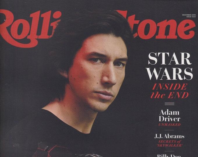 Rolling Stone December 2019 Star Wars Adam Driver Unmasked (Magazine: Movies, TV, Music, Books, Celebrities)