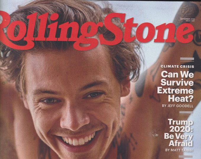 Rolling Stone  September 2019 Harry Styles and the Secrets of Stardom (Magazine: Movies, TV, Music, Books, Celebrities)