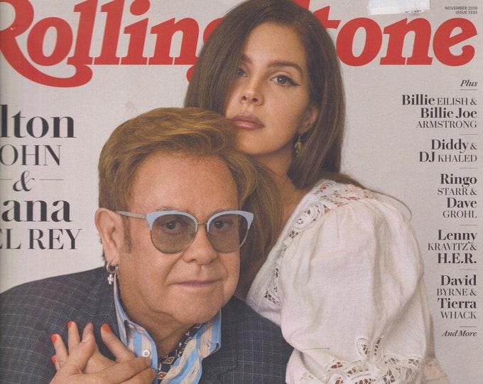 Rolling Stone November 2019 Elton John & Lana Del Rey Musicians On Musicians  (Magazine: Music, Commentary)