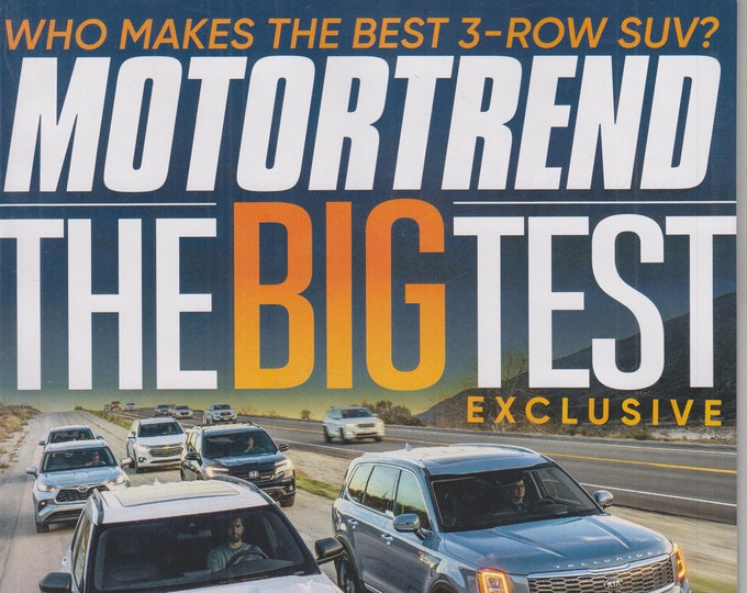 Motor Trend May 2020 The Big Test Who Makes the Best 3 Row SUV?  (Magazine: Automotive, Cars)