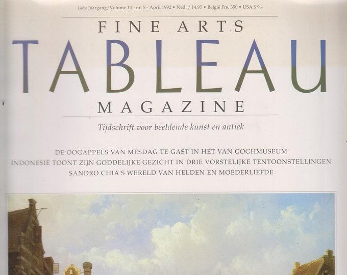 Tableau  April 1992 Fine Arts Magazine Tijdschrift Voor Beeldende Kunst En Antiek  (Magazine: Fine Art  in  Dutch)  1992
