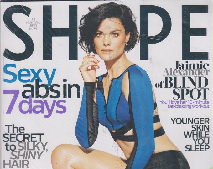 Shape March 2016 Blind Spot's Jaimie Alexander- Sexy Abs in 7 Days  (Magazine: Health & Fitness)