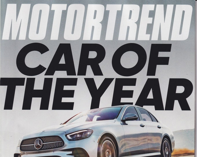 Motor Trend January 2021 Mercedes-Benz Car of the Year (Magazine: Automotive, Cars)