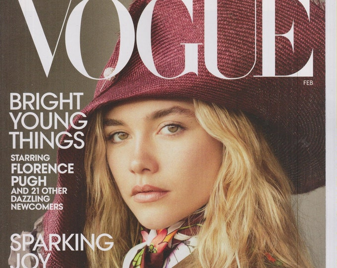 Vogue February 2020 Bright Young Things Starring Florence Pugh  (Magazine:  Women's, Fashion)