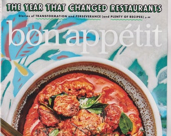 Bon Appetit October 2020 The Year That Changed Restaurants (Magazine:  Cooking, Recipes)