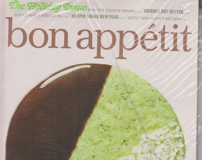 Bon Appetit December 2019/January 2020 The Holiday Issue  Mint Chocolate Cookie Cover  (Magazine:  Cooking)