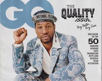 GQ  October 2020 Jonathan Majors - The Quality Issue (Magazine: Men's, General Interest)