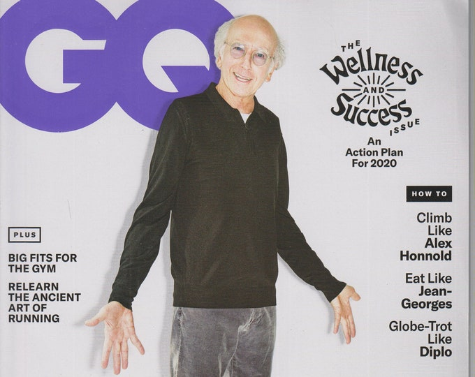 GQ February 2020 What You Can Learn From Larry David   (Magazine: Men's, General Interest)
