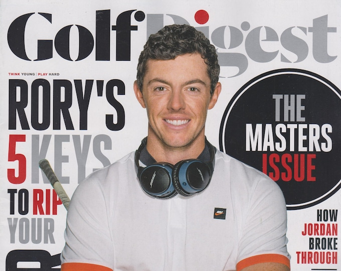 Golf Digest Masters 2016 Rory McIlroy The Masters Issue   (Magazine: Golf)