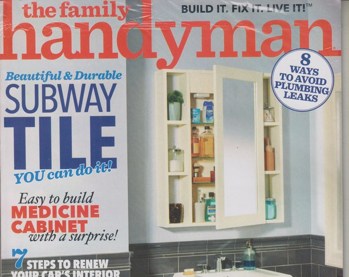 The Family Handyman October/November 2017 Beautiful & Durable Subway Tiles - You Can Do It! (Magazine, DIY, Home Improvement)