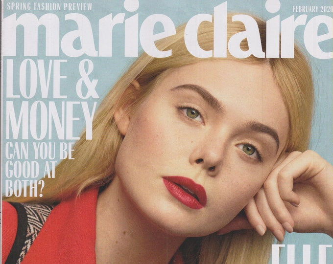 Marie Claire February 2020 Elle Fanning Is Ready To Shock You (Magazine, Women's, Fashion)