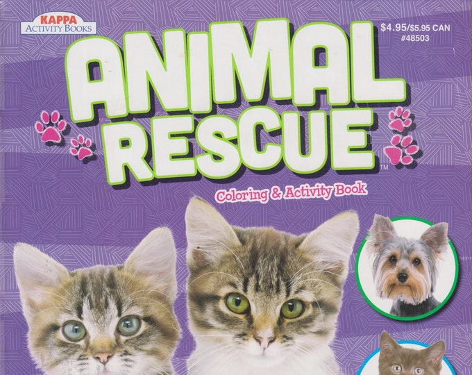 Animal Rescue Coloring and Activity Book (Softcover, Children, Coloring, Activity) 2017
