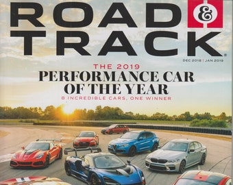 Road & Track December 2018/January 2019 The 2019 Performance Car of the Year (Magazine, Cars, Automotive)