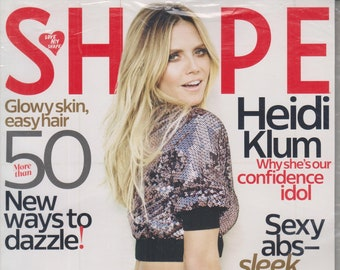 Shape December 2016 Heidi Klum -  Tight and Trim All Over (Magazine: Health & Fitness)
