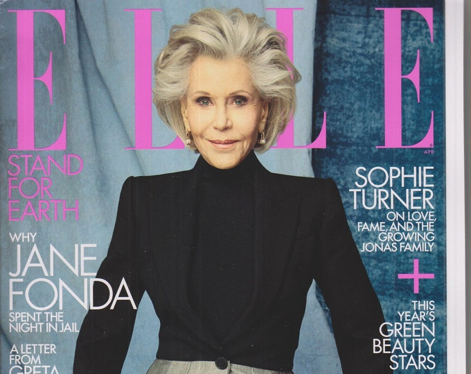 Elle April 2020 Why Jane Fonda Spent the Night In Jail  (Magazine: Women's, Fashion)