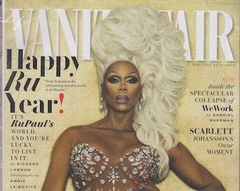 Vanity Fair Holiday 2019/2020 Happy Ru Year! It's RuPaul's World and You're Lucky to Live in It.   (Magazine: General Interest)