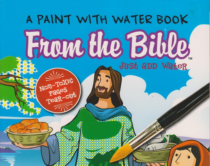 From the Bible (A Paint With Water Book)  (Softcover: Coloring Book, Religious) 2017