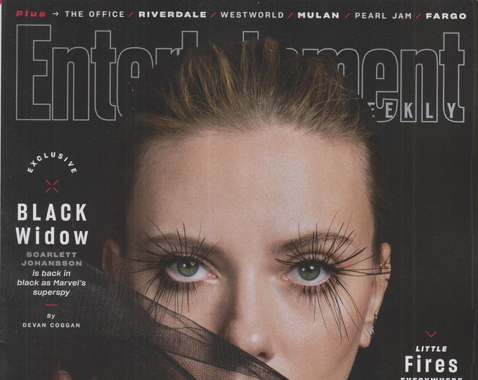 Entertainment Weekly April 2020 Scarlett Johansson Black Widow is Back (Magazine: Movies, Music, Film, TV,  Books, Celebrities)
