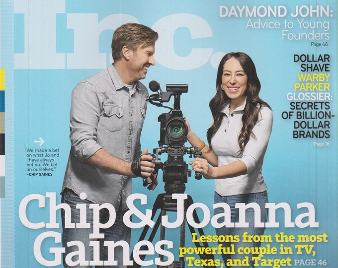 Inc. March April 2020 Chip &  Joanna Gaines (Magazine: Business)