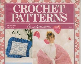 Crochet Patterns By Herrschners January/February 1989 (Magazine: Crafts) 1989