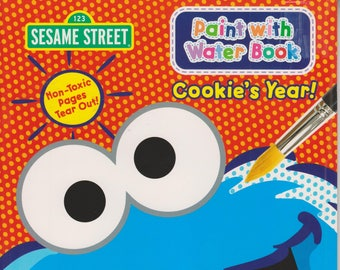 Sesame Street Cookie's Year (Paint With Water) (Softcover: Coloring Book,  Art) 2015
