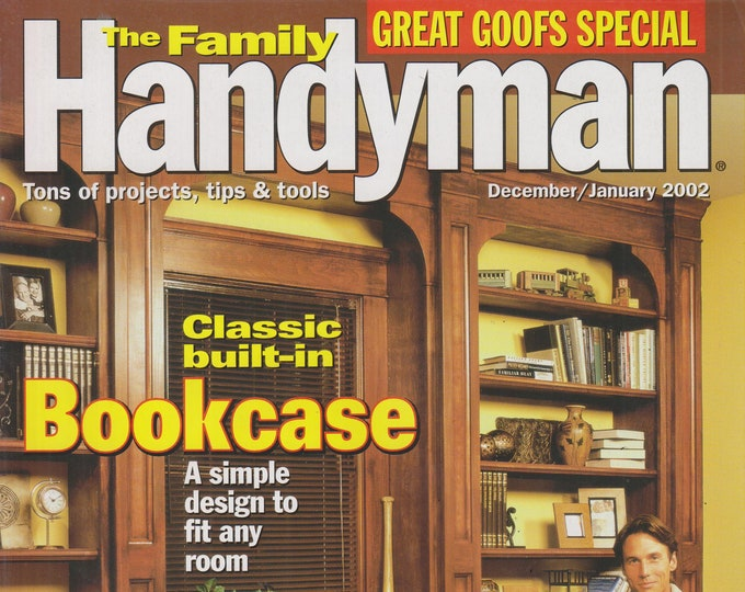 The Family Handyman December/January 2002 Classic Built-in Bookcase (Magazine: DIY, Home Improvement)