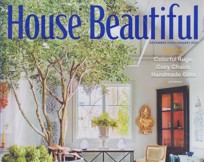 House Beautiful December 2020 January 2021 The Best Home Stores  (Magazine:  Home Decor)