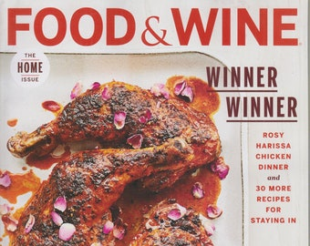 Food & Wine March 2020 Winner Winner Rosy Harissa Chicken Dinner and 30 More Recipes   (Magazine:  Wine, Cooking, Recipes)