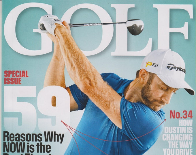 Golf February 2016 Dustin Johnson Special Issue 59 Reasons Why Now it the Best Time to be a Golfer  (Magazine: Golf, Sports)
