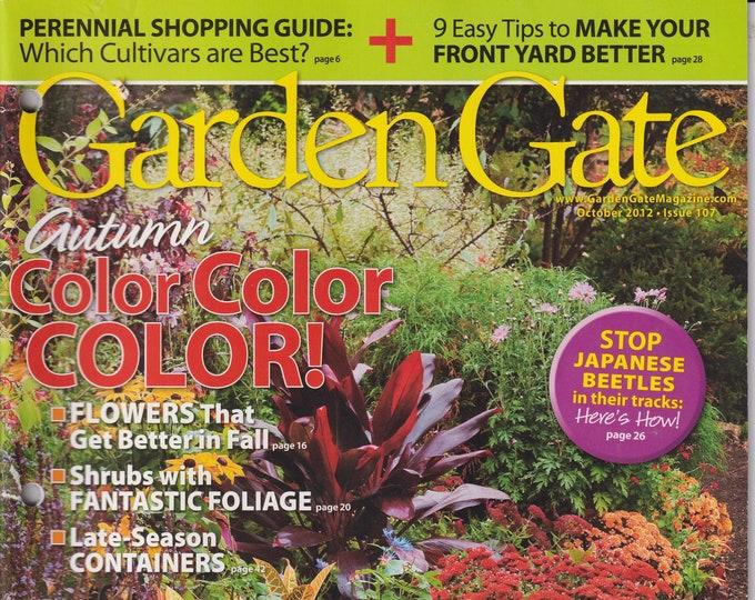 Garden Gate October 2012 Autumn Color Color Color!   (Magazine: Gardening)
