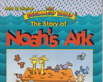 The Story of Noah's Ark - The Beginners Bible  Color by Number  (Softcover: Coloring Book, Religious) 1996
