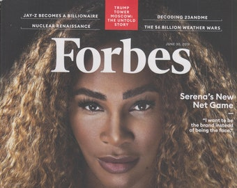 Forbes June 30, 2019 Serena Williams - The Richest Self-Made Women  (Magazine: Finance, Business)
