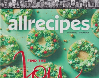 Allrecipes December January 2021 Find the Joy   (Magazine: Cooking, Recipes)