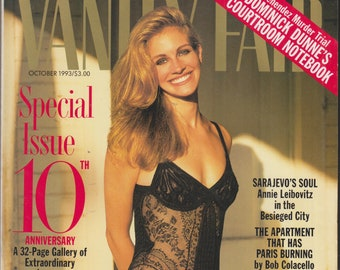 Vanity Fair October 1993 Julia Roberts  In Love - Special 10th Anniversary Issue (Magazine: General Interest)