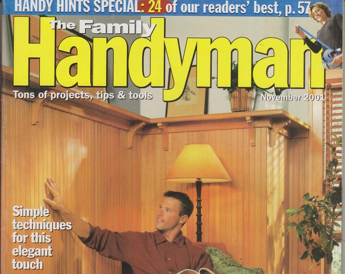 The Family Handyman November 2001 Warm Wood Paneling  (Magazine: DIY, Home Improvement)