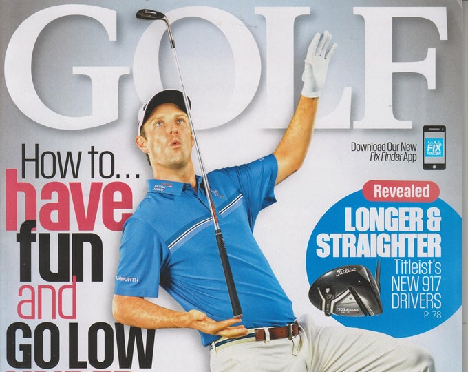 Golf November 2016 Olympic Champion Justin Rose How to Have Fun (Magazine: Golf, Sports)