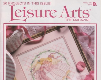 Leisure Arts April 1997 20 Projects  In This Issue  (Magazine:  Embroidery, Crocheting, Plastic Canvas, and more)