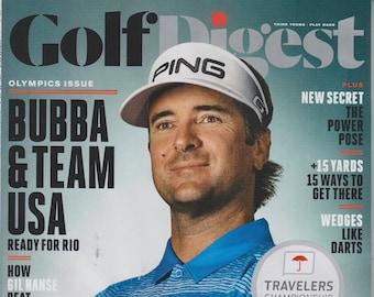 Golf Digest August 2016 Olympics Issue Bubba & Team USA  (Magazine: Golf)