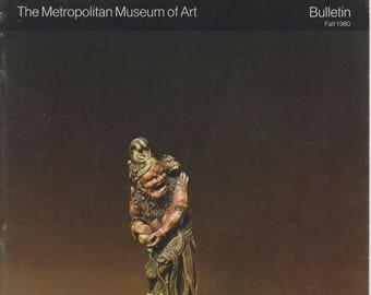 Netsuke: The Small Sculptures of Japan - The Metropolitan Museum Of Art Bulletin Fall 1980 (Staplebound, Art, Fine Arts, Japanese Art) 1980