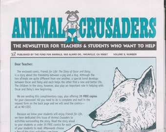 Animal Crusaders Volume  5 Numbers 1-4  Animals  (Newsletters: Teachers,  Children's, Activities, Educational, Animals) 2000-2001