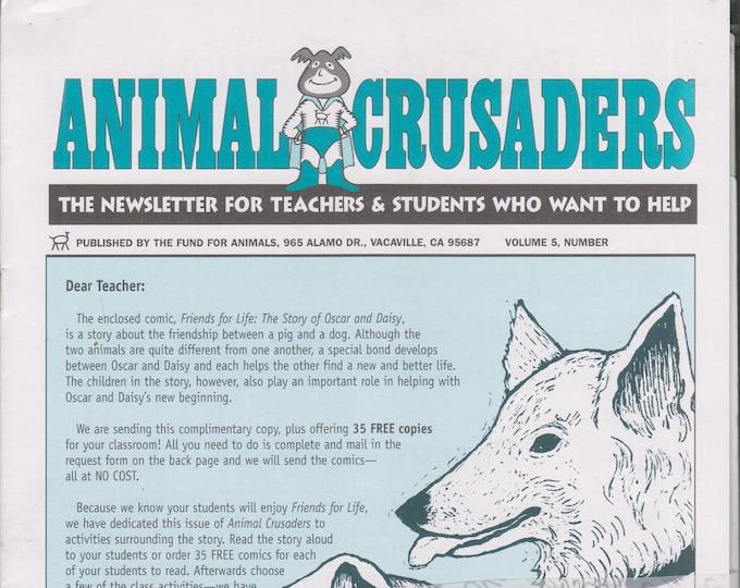 Animal Crusaders Volume  5 Numbers 1-4  Animals  (Newsletters: Teachers,  Children's, Activities, Educational, Animals) 2000-2001