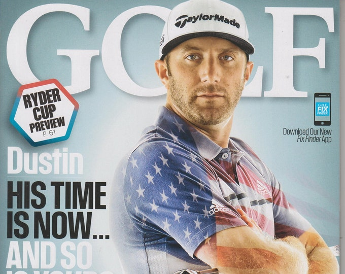 Golf October 2016 Dustin Johnson His Time is Now, Ryder Cup Preview (Magazine: Golf, Sports)